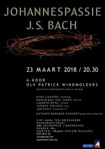 Johannespassie J.S. Bach Antwerpen Linkeroever